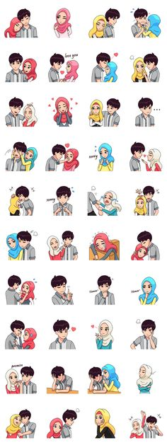 Lovely daily act by hijab couple, cheer up your day with their expression. Lovely daily act by hijab couple, cheer up your day with their expression. Couple Cartoon, Cartoon Pics, Cartoon Drawings, Cute Drawings, Drawing Sketches, Drawing Art, Drawing Ideas, Cute Muslim Couples, Cute Couples