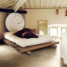 great bamboo bed so cool. tolles Bambusbett so cool .