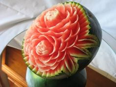 How to make a watermelon carving - Art with fruit and vegetables, by Jp.Gondomar - YouTube