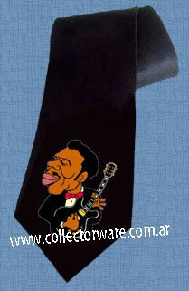 B.B. KING cartoon 1 DELUXE ART CUSTOM HANDPAINTED TIE  $25.00 + shipping   *Please see details at http://www.collectorware.com.ar/neckties-bb_king.htm