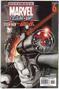 Ultimate Marvel Team-Up 6 Marvel Comic books modern era cover Punisher Spider-man Marvel Comic Books, Marvel Characters, Comic Books Art, Marvel Comics, Book Art, Star Citizen, Le Punisher, Iron Man, Spiderman