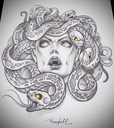 Medusa, dibujo