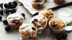 Blackberry Muffins ~ made with cinnamon & yogurt | recipe from Yeo Valley Family Farm (UK)