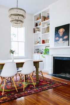 mixed style dining room