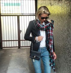 Anna rockin' a gorgeous winter look with a stack of Cassie Louise bracelets