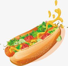 Hot Dogs pintados a mano - ideas - Caseta Perro Casual Art, Food Sketch, Food Cartoon, Watercolor Food, Bakery Logo, Food Painting, Cafe Menu, Food Drawing, Red Queen