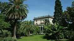 The gardens of Villa Emden, Isole de Brissago, Lake Maggiore.