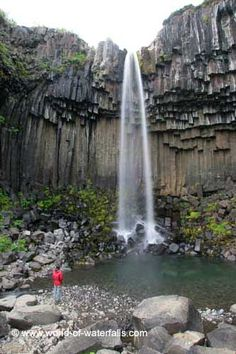 Since we were going clockwise on the Ring Road, the last legitimate waterfall we saw prior to Foss á Siðu was Svartifoss in Skaftafell National Park in the East Region of Iceland Basalt Columns, Iceland Waterfalls, Amazing Nature, Places To Go, National Parks, Tower, Base, Adventure, Future