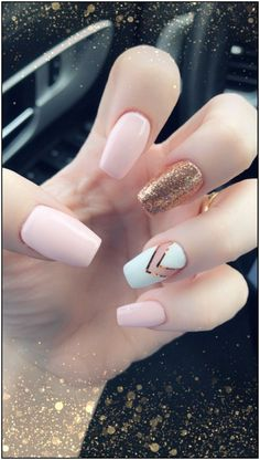 Try some of these designs and give your nails a quick makeover, gallery of unique nail art designs for any season. The best images and creative ideas for your nails. Best Acrylic Nails, Summer Acrylic Nails, Acrylic Nail Designs, Summer Nails, Spring Nails, Fall Manicure, Acrylic Nails Coffin Short, Manicure Ideas, Cute Nails