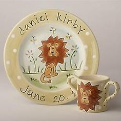 Baby's Personalized Safari Lion Plate