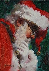 He Knows. by Robert McKay Oil ~ 7 x 5 Father Christmas, Vintage Christmas Cards, Santa Christmas, Christmas Pictures, Christmas Holidays, Christmas Decorations, Christmas Smells, Christmas Trimmings, Christmas Mantles