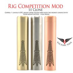 Rig Competition Mech Mod Clone (Stainless, Brass, Copper) – Victory Vape