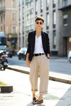 Alessandra Colombo - I LOVE her androgynous style