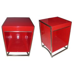 1960s Lacquer Nightstands