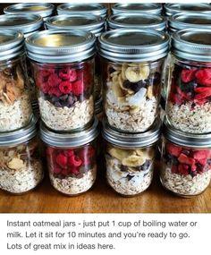 Instant Oat Meal Jar #Food #Drink #Trusper #Tip