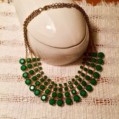 Green statement necklace Originally purchased from Nordstrom. Jewelry Necklaces