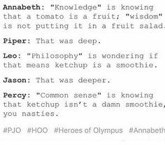 "Annabeth Leo Jason Piper and Percy ""Wisdom"""