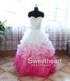 Custom Made Ball Gown Sweetheart flounced Prom Dress, Graduation Dress from Sweetheart Girl