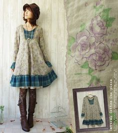 Favorite - японская одежда для Morigirl Japanese dress ( :D oh my goodness this is sooo adorable) Mori Girl Fashion, Cute Fashion, Asian Fashion, Vintage Fashion, Hippie Fashion, India Fashion, Fashion Styles, Fashion Women, Moda Mori