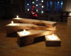 Wooden Candle Holder. Tealight Candelabra. Wedding Centerpiece. Thanksgiving Decor. Advent Decor. Christmas Decor. Scandinavian desing