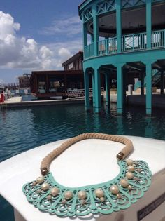 Limassol, Leather Necklace, Cyprus, Turquoise Necklace, Self, Leather Collar, Leather Chain