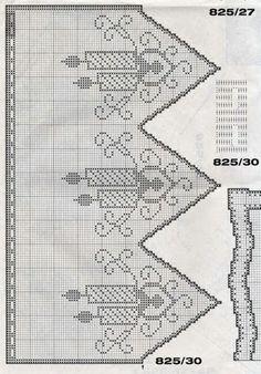 "Photo from album ""Burda special Филейное вязание"" on Yandex. Crochet Curtains, Crochet Doilies, Crochet Lace, Crochet Stitches Patterns, Cross Stitch Patterns, Sewing Patterns, Filet Crochet, Crochet Carpet, Beaded Cross"