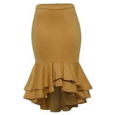 Women Plus Size Skirts Ruffled Trumpet Mermaid Skirts Yellow Fashion Ladies Office Elegant Big Size High Waist Bodycon Skirts - Women's style: Patterns of sustainability Latest African Fashion Dresses, Women's Fashion Dresses, Modest Fashion, Pencil Skirt Outfits, Mermaid Skirt, Plus Size Skirts, Yellow Fashion, Body Con Skirt, Classy Dress