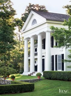 For his own home in New York's Hudson Valley, architect Gil Schafer III borrowed elements from Greek Revival architecture to create a compelling silhouette, complete with Roman Doric columns, meant to stand the test of time. When paired with landscape architecture by Deborah Nevins , the result is a traditional home that looks modern despite its classic 19th-century American vernacular.
