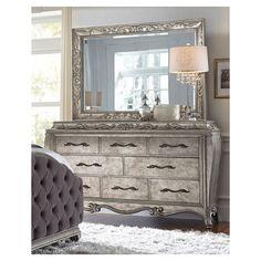 Bella Terra Dresser ($1,499) ❤ liked on Polyvore featuring home, furniture, storage & shelves, dressers, drawer furniture, hardware furniture, rubberwood furniture, rubber wood furniture and drawer dresser