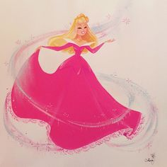 "Pink - Princess Aurora from Disney's ""Sleeping Beauty"" artist by Liana Hee Disney Pixar, Gif Disney, Disney Nerd, Arte Disney, Disney Fan Art, Disney Animation, Disney And Dreamworks, Disney Girls, Disney Magic"