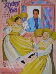 Flying Nun Paper Dolls -- not a lot of clothes with these!
