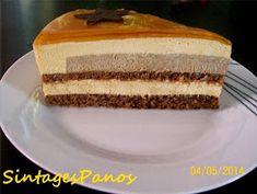 Ζαχαροπλαστική Πanos: Τούρτα καραμέλα - πραλίνα Greek Desserts, Vanilla Cake, Sweet Tooth, Dessert Recipes, Sweets, Chocolate, Cooking, Food, Cake Ideas