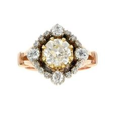 Vintage Georgian style yellow diamond ring