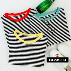 Striped T-Shirt - Block D | YESSTYLE