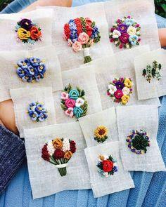 """1,378 Beğenme, 18 Yorum - Instagram'da Handmade Талант в руках (@talant_v_rukah): """"@muhibbi2406 #вышивка #вышиваю #вышивкагладью #цветы #embroidery #handembroidery"""""""
