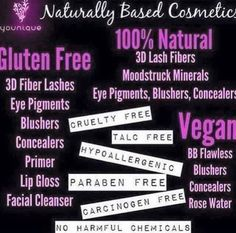 Naturally based products....that's right it's amazing
