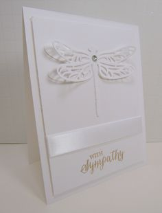 Monochromatic Monday sympathy card - new Stampin Up Dragonfly Dreams