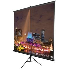 "Elite Screens Tripod Series Projection Screen (1:1 Format; 136""; 96"" X 96"")"