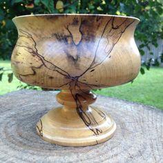 Spalted Magnolia Pedestal Bowl