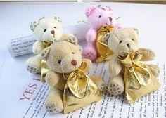 atacado 100pcs/lot doces de casamento ursinho de pelúcia pingente mini urso de pelúcia brinquedos para keychain/presentes de casamento/brind...