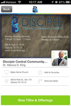 Disciple Central Community Church in DeSoto, Texas #GivelifyChurches