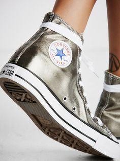 Converse Metallic Hi Top Chucks at Free People Clothing Boutique