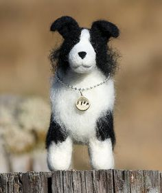 Border Collie  Needle felted wool sculpture made by kenleighacres, $40.00