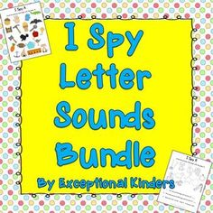 I Spy Find the Picture Letter Sounds Bundle {Differentiated Phonics Activities} - Includes beginning letter sounds, long and short vowel sounds, and blends and digraphs.  $