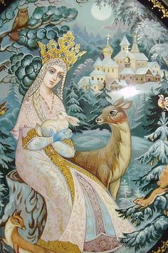 http://www.ebay.com/itm/Russian-Lacquer-box-Kholui-Snow-Maiden-with-forest-animals-Hand-Painted-/271721844177?roken=cUgayN