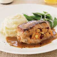 Apple-Cranberry Stuffed Pork Chops: So good as long as your pork chops are thick enough to stuff.