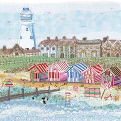 FPR97 Southwold Lighthouse - Limited Edition Prints from Abigail Mill Embroidery