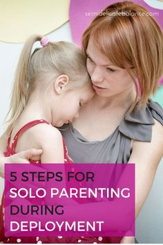 5 Steps for Solo Parenting During Deployment, our military kids are so resilient, it's important to help them out anyway we can