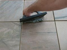 Installing Slate Floor Tiles: Grouting The Slate