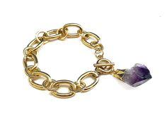 Raw Amethyst Bracelet